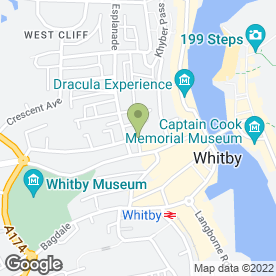Map of Shearers in Whitby, north yorkshire