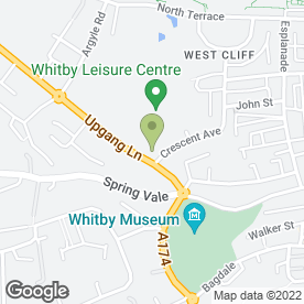 Map of Crescent School of Motoring in Whitby, north yorkshire