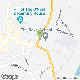 Map of Happy Feet Foot Clinic in Dungannon, county tyrone
