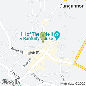 Map of Cano's Pizzeria in Dungannon, county tyrone
