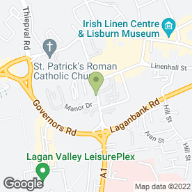 Map of BOBBY MORRISON in Lisburn, county antrim