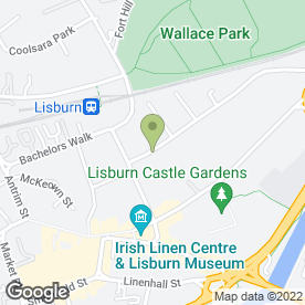 Map of Brownlee Play Group By Little Rays in Lisburn, county antrim