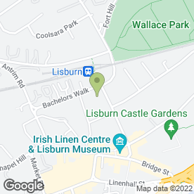 Map of Citizens Advice Bureau in Lisburn, county antrim