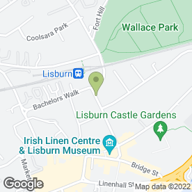 Map of Music Matters in Lisburn, county antrim