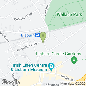 Map of The Cardan Bar & Grill in Lisburn, county antrim