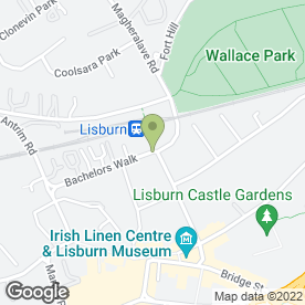 Map of Lisburn Credit Union Ltd in Lisburn, county antrim