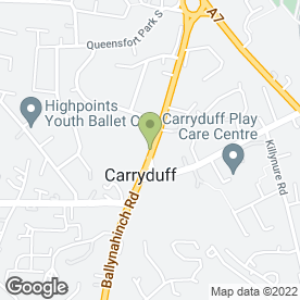 Map of 1to1music in Carryduff, Belfast, county antrim