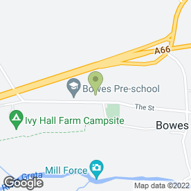 Map of Bowes Preschool in Bowes, Barnard Castle, county durham