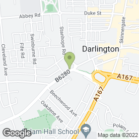 Map of The Chaos in Darlington, county durham