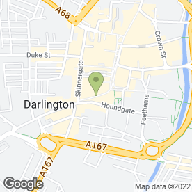 Map of Royal Bank of Scotland in Darlington, county durham
