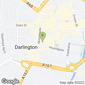 Map of Sunlight Nails in Darlington, county durham