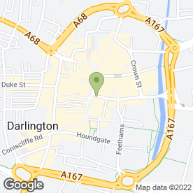 Map of Virgin Money in Darlington, county durham