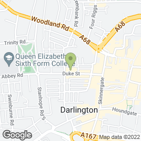 Map of Catherine Mitford Photographer in Darlington, county durham