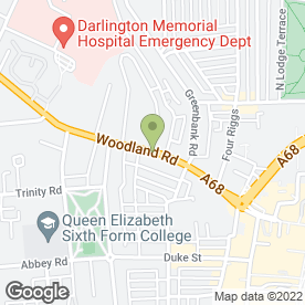 Map of Gentle Dental Centre in Darlington, county durham