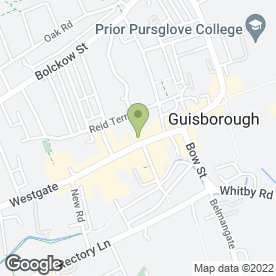 Map of Guisborough Montessori Pre-School in Guisborough, cleveland