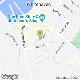 Map of Queen Street Medical Practice in Whitehaven, cumbria
