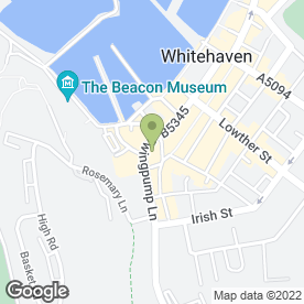 Map of Vine Hotel in Whitehaven, cumbria