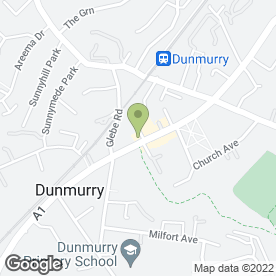Map of The Dunmurry Inn in Dunmurry, Belfast, county antrim