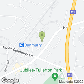 Map of Dunmurry Tyre Repairs in Dunmurry, Belfast, county antrim