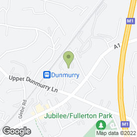 Map of AGM Motorcycles in Dunmurry, Belfast, county antrim