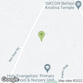 Map of Stewartstown Road Health Centre in Belfast, county antrim