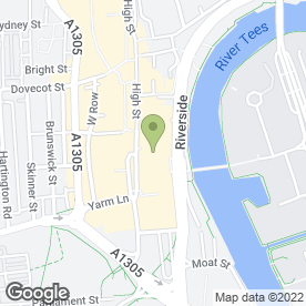 Map of Blessing Hair & Beauty Salon in Stockton-On-Tees, cleveland