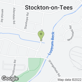 Map of Fast Fence in Stockton-On-Tees, cleveland