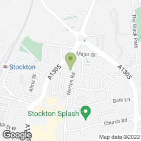 Map of HUI in Stockton-On-Tees, cleveland