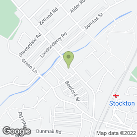 Map of Newtown Shukokai Karate Club in Stockton-On-Tees, cleveland