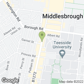 Map of Thomas Cook Retail Ltd in Middlesbrough, cleveland