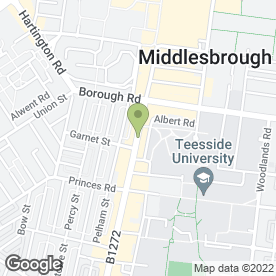 Map of Greggs in Middlesbrough, cleveland