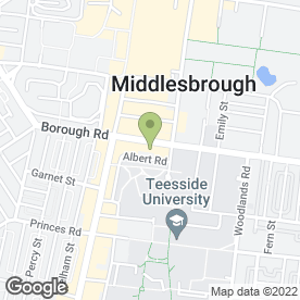 Map of REEDS RAINS ESTATE AGENTS in Middlesbrough, cleveland