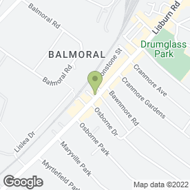Map of AURA DAY SPA in Belfast, county antrim