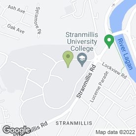 Map of STRANMILLIS UNIVERSITY COLLEGE in Belfast, county antrim