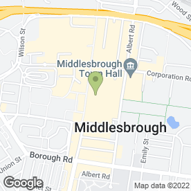 Map of Drs McIlhinney, Elliot, Nanda, Granger in Middlesbrough, cleveland