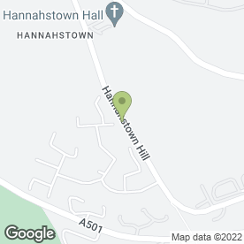 Map of ard Ciaran Mackel in Hannahstown, Belfast, county antrim
