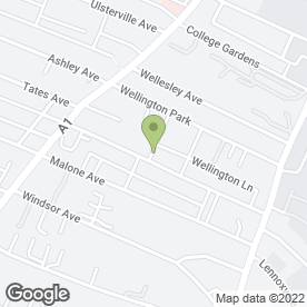 Map of Malone Lodge Hotel in Belfast, Antrim, county antrim
