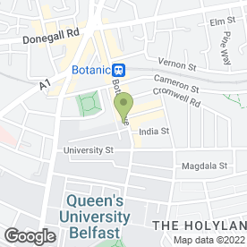 Map of PHP Architects in Belfast, county antrim