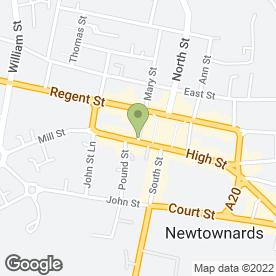 Map of THE WEDDING BOX in Newtownards, county down