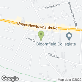 Map of Sandown Dental & Implant Clinic in Belfast, county antrim