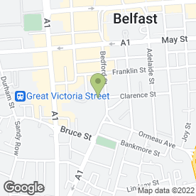 Map of RBG Bar & Restaurant in Belfast, county antrim