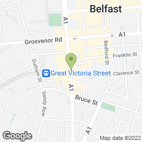 Map of Restaurant Victoria in Belfast, county antrim