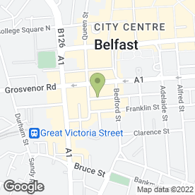 Map of The Bar + Grill in Belfast, county antrim