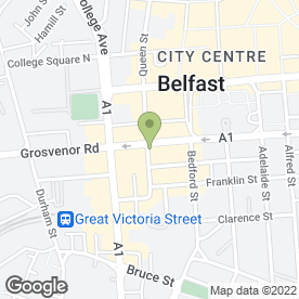 Map of Academy Hair & Beauty in Belfast, county antrim
