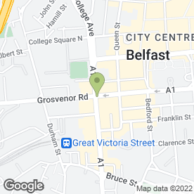 Map of Grand Opera House in Belfast, county antrim