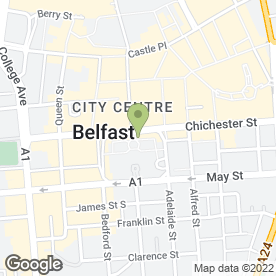 Map of Belfast City Council in Belfast, county antrim