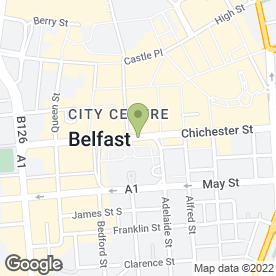 Map of The Appeals Service in Belfast, county antrim