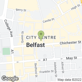 Map of Therapie in Belfast, county antrim
