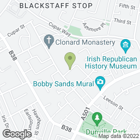 Map of McCarthy Joinery in Belfast, county antrim