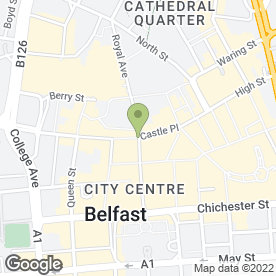 Map of Iceland Foods Ltd in Belfast, county antrim